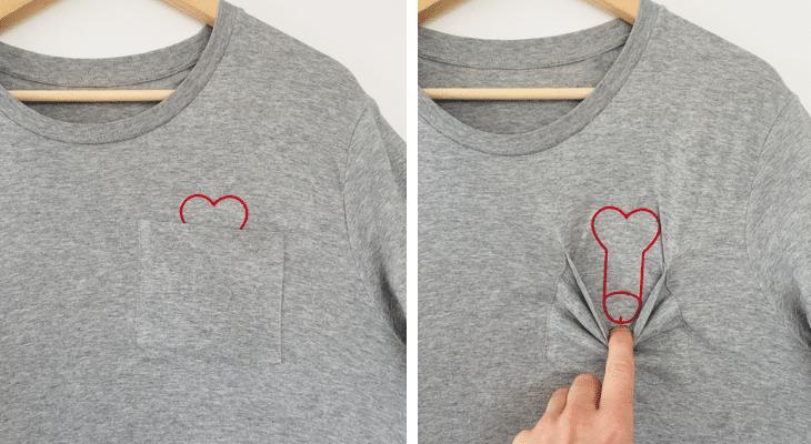 """""""Plan cœur"""" le t-shirt trompe l'œil qui fait le buzz !"""
