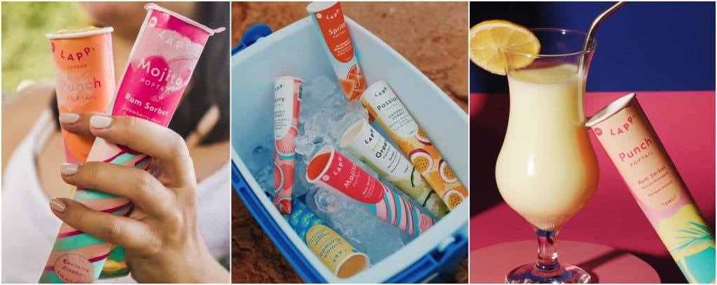 Insolite glaces sorbets alcoolisés cocktails été